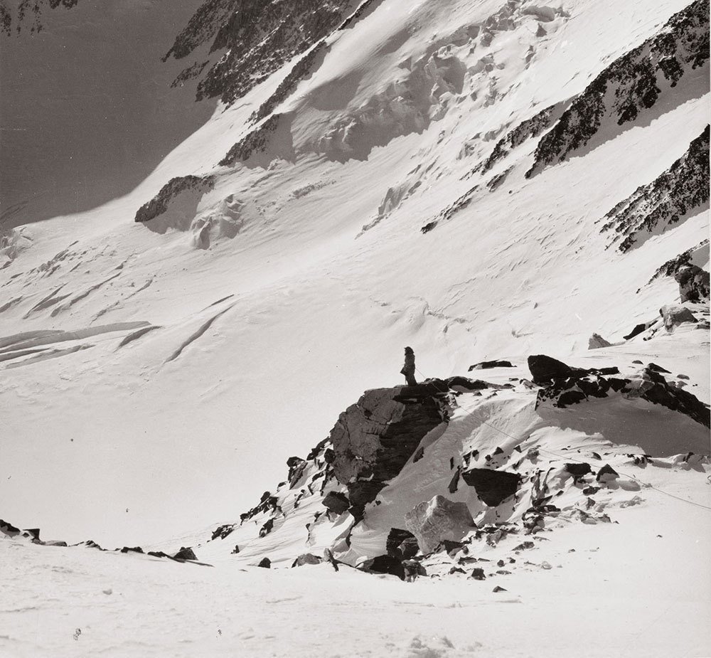 Barbara Washburn on top of an Alaskan peak in 1941