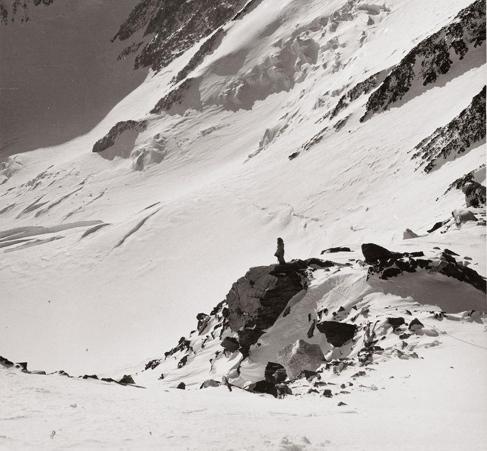 Barbara Washburn on top of an Alaskan peak in 1941