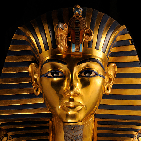 an image of King Tut's funerary mask