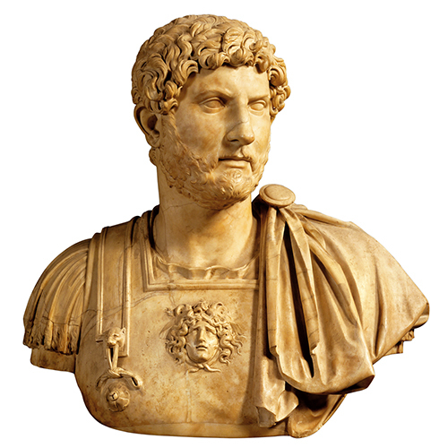 Bust of Hadria, second century A.D., Galleria Degli Uffizi, Florence.