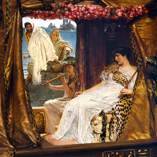 Painting of Cleopatra and Mark Antony.