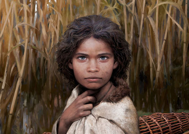 Image of young hunter-gatherer