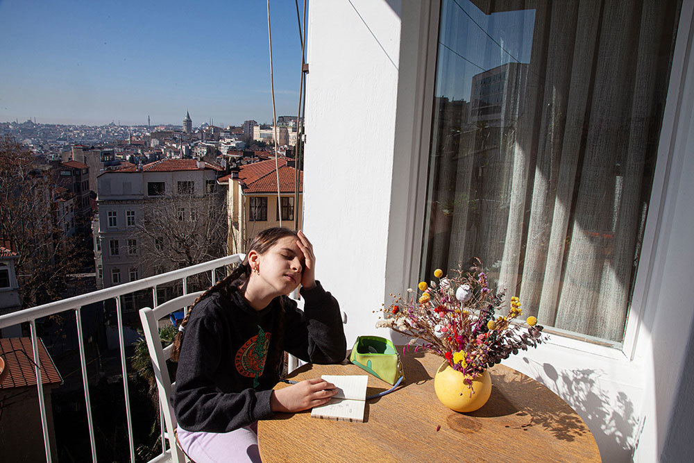 Rena Effendi at her home in Istanbul